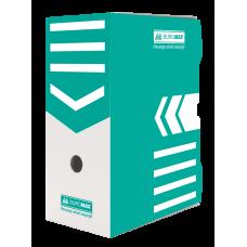 """Короб архивный картонный Buromax """"Jobmax"""", 150 мм, бирюзовый"""