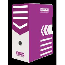 """Короб архивный картонный Buromax """"Jobmax"""", 150 мм, фиолетовый"""