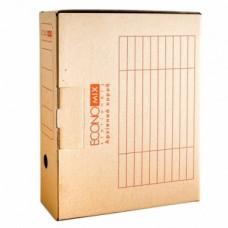 Короб архивный картонный Economix, 100 мм, коричневый