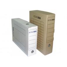 Короб архивный картонный Economix, 80 мм, белый