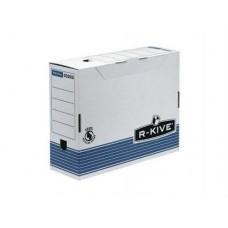 "Короб архивный картонный Fellowes ""R-Kive Prima"", 100 мм, синий"