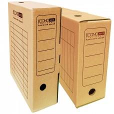 Короб архивный картонный Economix, 100 мм, белый