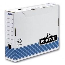 "Короб архивный картонный Fellowes ""R-Kive Prima"", 80 мм, синий"