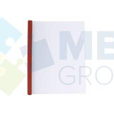 Папка А4 Economix с планкой-зажимом 10 мм (2-65 листов), красная