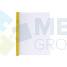 Папка А4 Economix с планкой-зажимом 10 мм (2-65 листов), желтая