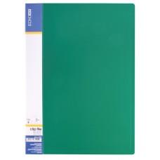 Папка А4 с боковым прижимом Economix CLIP В Light, зеленая