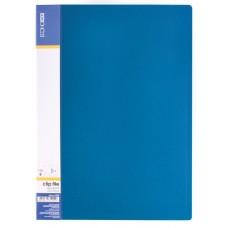Папка А4 с боковым прижимом Economix CLIP В Light, синяя