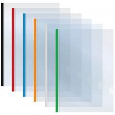 Папка А4 Economix с планкой-зажимом 6 мм (2-35 листов), ассорти