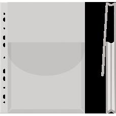 """Файл для документов А4+ Donau, 170 мкм, ,фактура """"глянец"""", с клапаном (1 шт.)"""