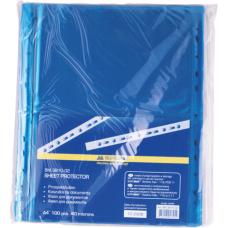 "Файл для документов А4+ Buromax ""PROFESSIONAL"", 40 мкм, фактура ""глянец"" (100 шт.), синий"