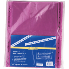 "Файл для документов А4+ Buromax ""PROFESSIONAL"", 40 мкм, фактура ""глянец"" (100 шт.), фиолетовый"