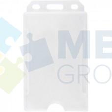 Бейдж вертикальный Optima, PP+PVC, 54х85 мм