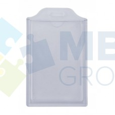 Бейдж вертикальный Optima, ABS+PVC, 54х85 мм