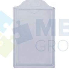 Бейдж вертикальный Optima, ABS+PVC, 74х105 мм