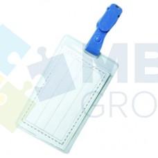 Бейдж вертикальный с зажимом Economix, силиконовый, 62х91 мм
