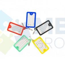 Брелок для ключей пластиковый Economix 45х26 мм, ассорти