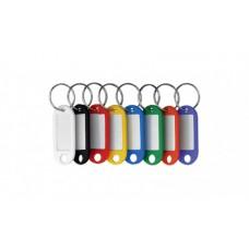 Брелок для ключей пластиковый Economix 60х22 мм, ассорти