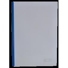 Папка А4 Buromax с планкой-зажимом 6 мм, синяя