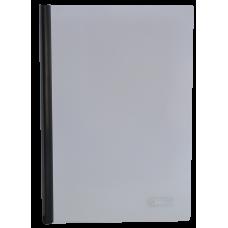 Папка А4 Buromax с планкой-зажимом 10 мм, черная