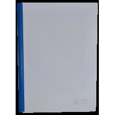 Папка А4 Buromax с планкой-зажимом 10 мм, синяя