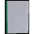 Папка А4 Buromax с планкой-зажимом 10 мм, зеленая