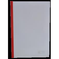 Папка А4 Buromax с планкой-зажимом 10 мм, красная