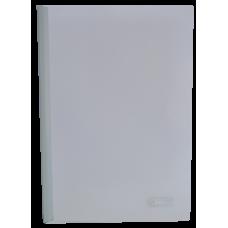Папка А4 Buromax с планкой-зажимом 10 мм, белая