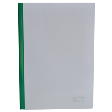Папка А4 Buromax с планкой-зажимом 15 мм, зеленая