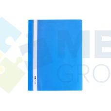 """Папка-скоросшиватель А4 Economix без перфорации, фактура """"апельсин"""", синяя"""