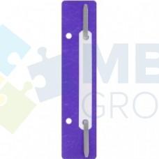 Минискоросшиватель Economix, 20 шт., фиолетовый