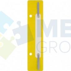 Минискоросшиватель Economix, 20 шт., желтый