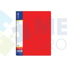 Папка А4 с 10 файлами Economix, красная