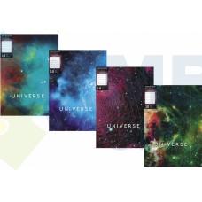 """Папка А4 с 10 файлами Optima """"Universe"""", ассорти"""