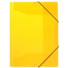 """Папка пластиковая А4 на резинках Format, фактура """"апельсин"""", желтая"""