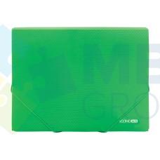 """Папка пластиковая А4 на резинках Economix, фактура """"бриллиант"""", зеленая"""