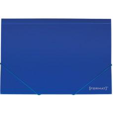 """Папка пластиковая А4 на резинках Format, фактура """"апельсин"""", синяя"""