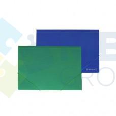 """Папка пластиковая А4 на резинках Format, фактура """"апельсин"""", зеленая"""