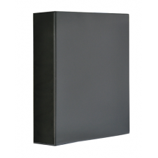"""Папка-регистратор A4 """"Панорама"""" Panta Plast на 4 D-кольца, 70 мм, черная"""