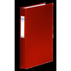 Папка-регистратор А4 Donau на 4-х кольцах, 40 мм, сменный индекс, красная