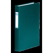 Папка-регистратор А4 Donau на 4-х кольцах, 40 мм, сменный индекс, зеленая