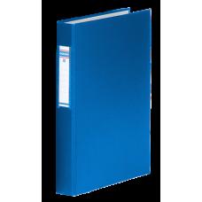Папка-регистратор А4 Donau на 4-х кольцах, 40 мм, сменный индекс, синяя