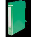 """Папка пластиковая А4 Buromax """"Jobmax"""" на 2-х кольцах, 25 мм, зеленая"""