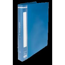 """Папка пластиковая А4 Buromax """"Jobmax"""" на 2-х кольцах, 25 мм, синяя"""