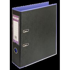 Папка-регистратор А4 STYLE Buromax, 70 мм, фиолетовый/черный