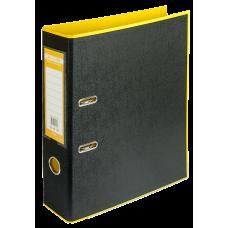 Папка-регистратор А4 STYLE Buromax, 70 мм, желтый/черный