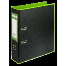 Папка-регистратор А4 STYLE Buromax, 70 мм, салатовый/черный