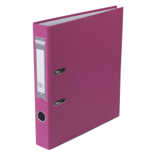 Папка-регистратор А4 LUX Jobmax, 50 мм, розовая