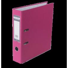 Папка-регистратор А4 LUX Jobmax, 70 мм, розовая
