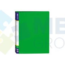Папка пластиковая А4 Economix на 4 кольца, зеленая