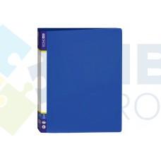 Папка пластиковая А4 Economix на 2 кольца, синяя